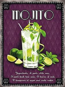 Mojito large steel sign 400mm x 300mm  (og)